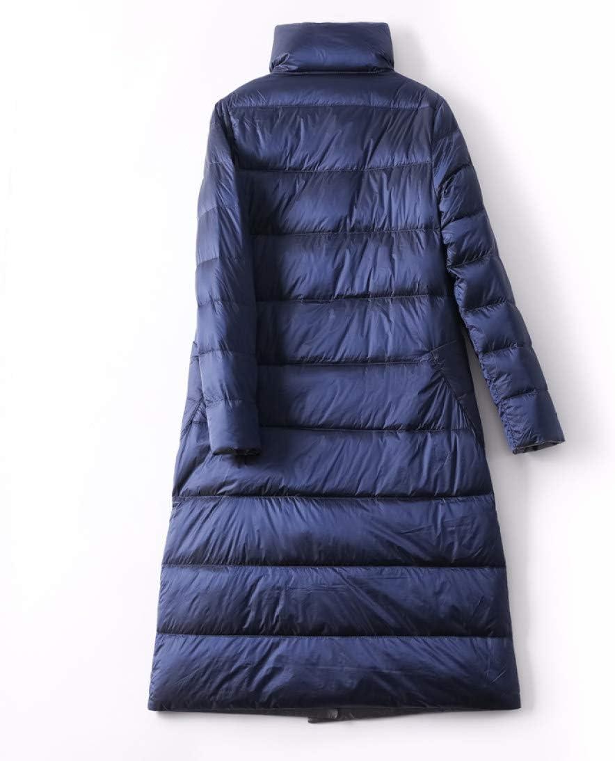 AOGUHN Piumino - Piumino Donna Capispalla Invernale Cappotti Donna Lungo Casual Leggero Piumino Caldo Ultra Sottile Blu navy