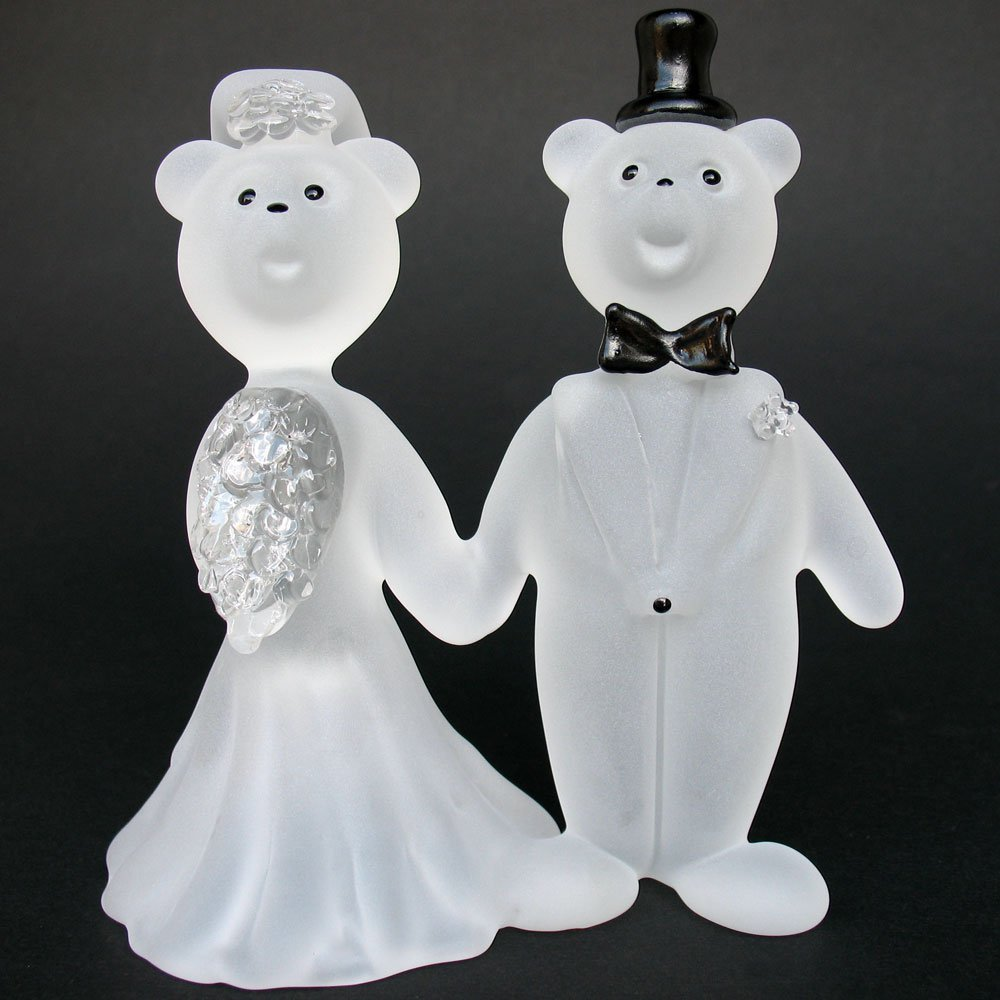 Amazon.com: Teddy Bear Bride and Groom Wedding Cake Topper Figurine ...