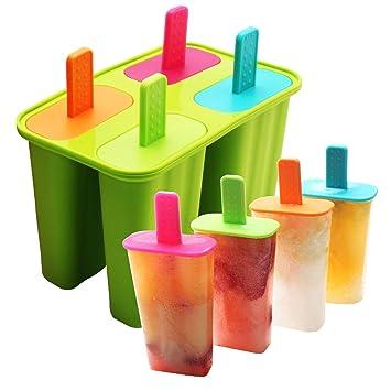 Dehub Eisformen Silikon 4 Popsicle Formen Setbpa Frei Eis Am Stiel