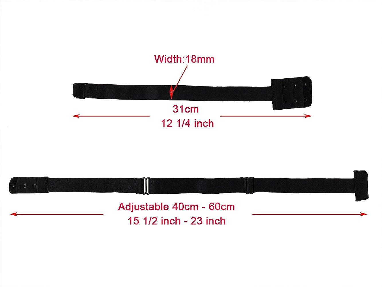 Ladys Adjustable Low Back Bra Converter Straps 2 Hook Black White Beige