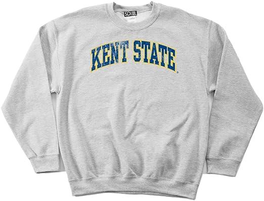 4X Navy Kent State Golden Flashes 50//50 Blended 8 oz Crewneck Sweatshirt
