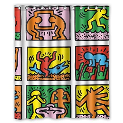 Keith Haring Nice Graffiti Art Custom Shower Curtain 60 Amazonca Sports Outdoors