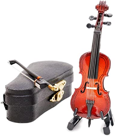 1:12 Scale Wooden Cello With End Pin /& Black Case Tumdee Dolls House Accessory
