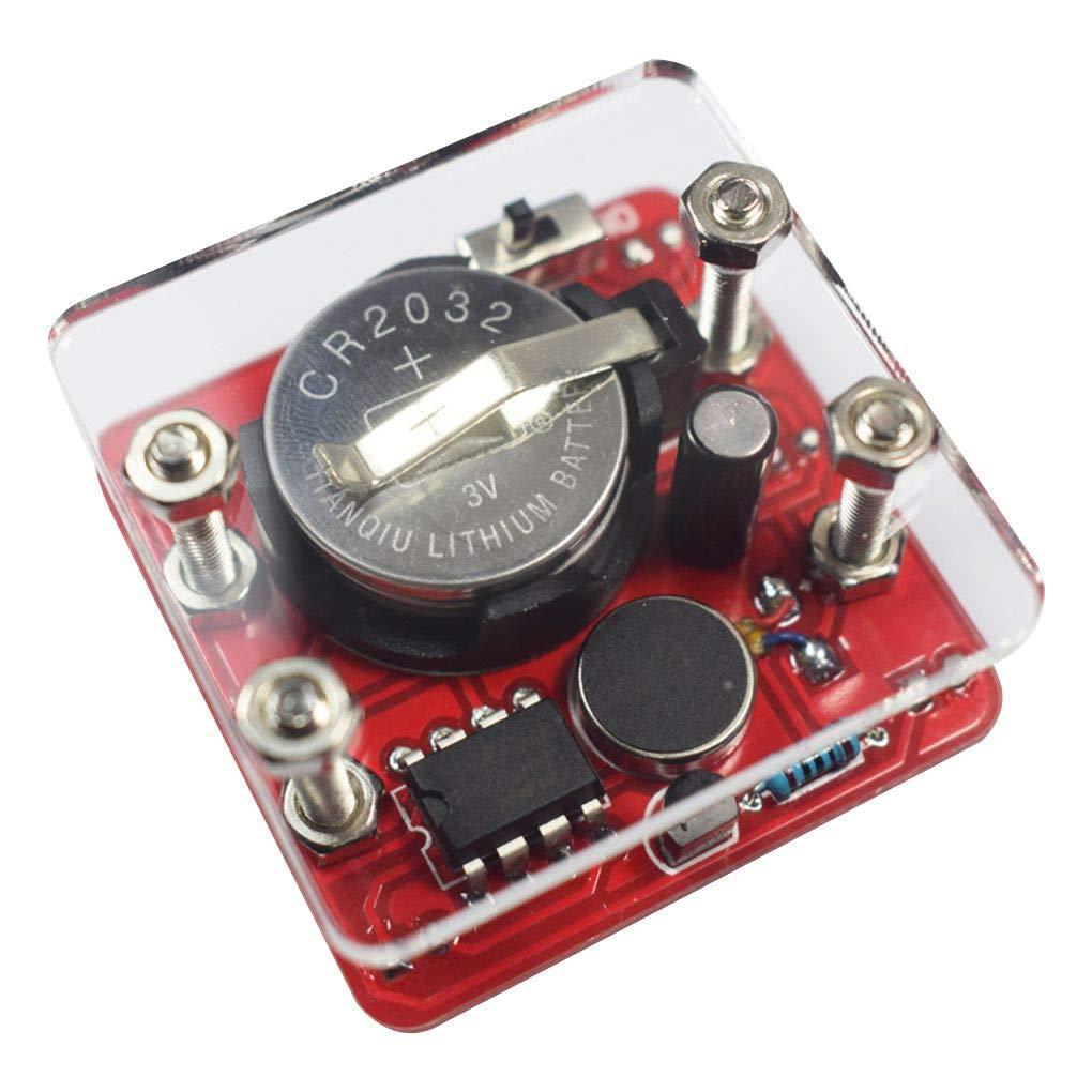 fgyhtyjuu Bricolage Balançoire Secouer Kit LED Dice Inclus Petit Moteur de Vibration DIY Kits électroniques