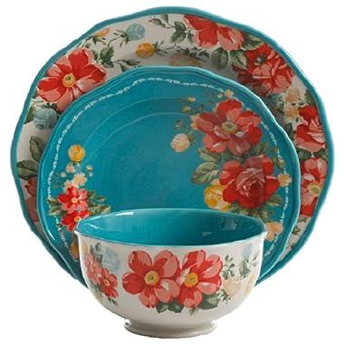 Vintage Floral 12-Piece Dinnerware Set (1-Pack)