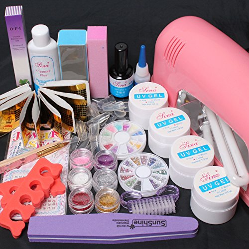 WindMax(R) 22 in 1 Comb Kit Pink Clear White UV Bulider Gel (Glitter Gel Tube)
