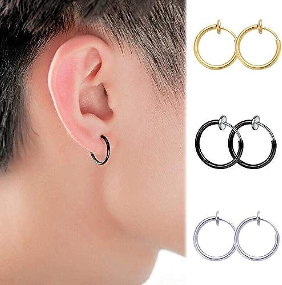 Retractable Earrings No Piercing Earrings Round Hoop Ear Cuff Cuff Earrings
