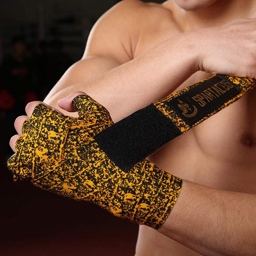 Kickboxen Muay Thai f/ür Boxen Hippodoctor Elastische Profi-Handbandagen MMA Camouflage
