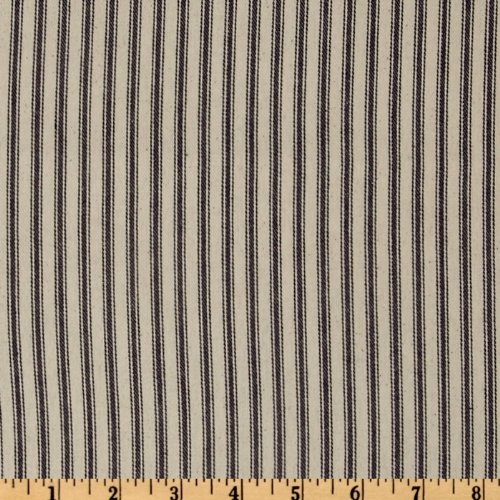 Cream Quilt Fabric (32in Down-Proof Ticking Stripe Blue/Cream Fabric By The Yard)