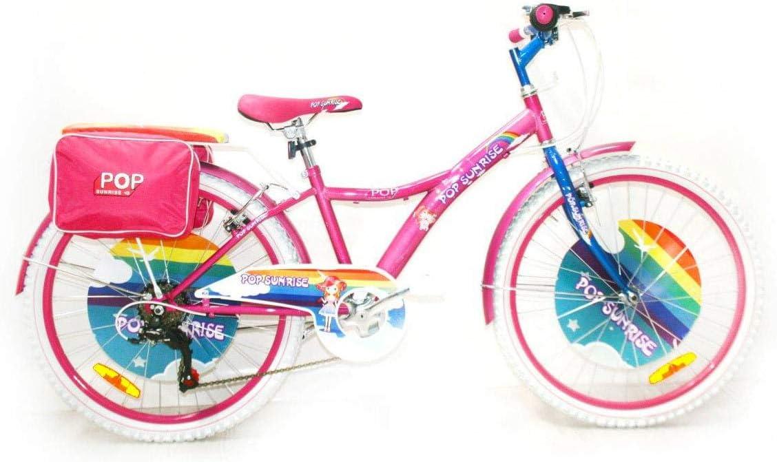 Reset - Bicicleta para niña, 24 Pulgadas, 6 V, Pop Sunrise, Rosa y ...