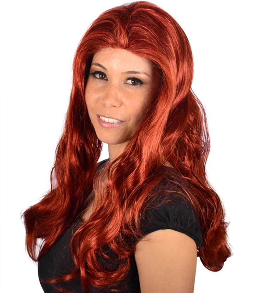 Amazon Com My Costume Wigs Women S Tyra Banks Wig Red One Size Fits All Clothing