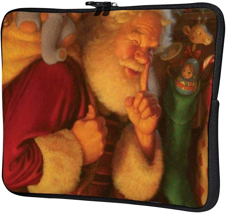 Secret Santa 15 Inch Protective Laptop Sleeve Ultrabook Notebook Carrying Case Compatible with MacBook Pro MacBook Air Tablet Briefcase Bag
