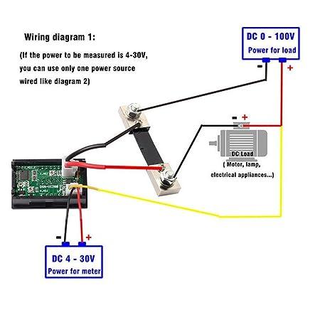 dc 100v 10a 50a 100a voltmeter ammeter led dual digital volt amp rh amazon com