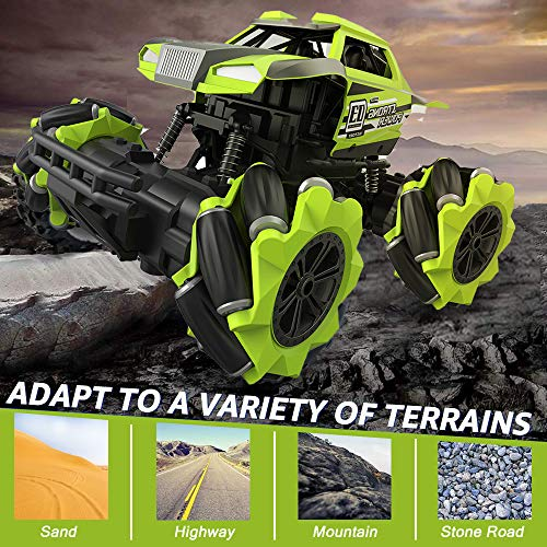 Jaydear Remote Control Car,Hobby RC Car Monster Truck RC Cars for Kids High Speed 1/16 Scale Stunt Climbing Car 4x4 Off Road Car Rechargeable RC Stunt Car for Adult Outdoor Toy