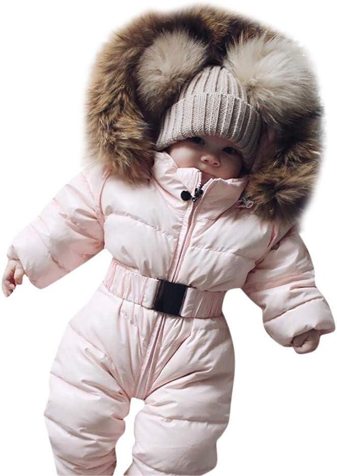 60, Pink Xiangdanful Babykleidung Baby Overall Junge M/ädchen Daunenjacke Winterjacke Strampler Neugeborene Winter Warm Dicker Mantel Pl/üsch Coat Outfit Schneeanzug S/äuglingsbaby Jacke