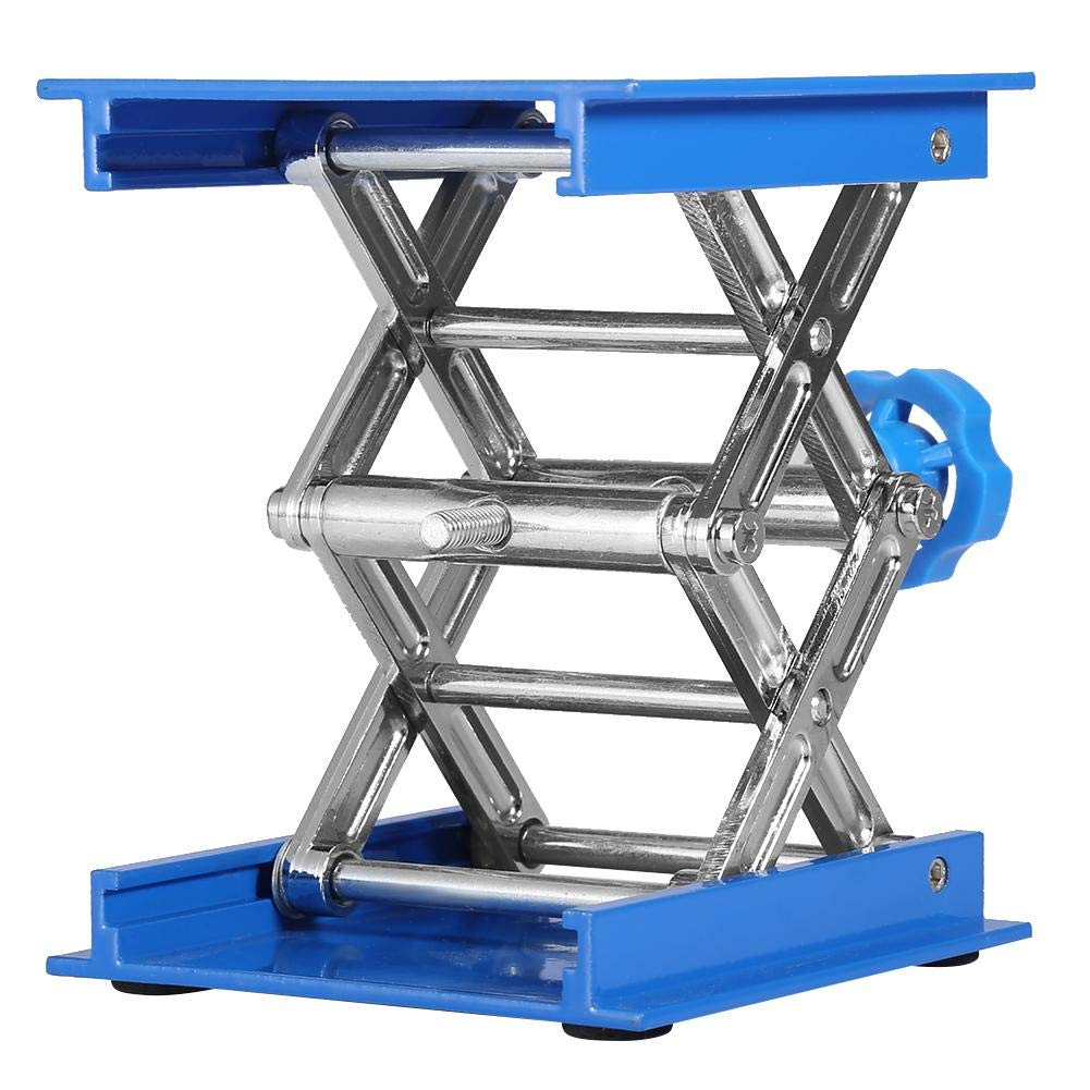 Lab Lifting Platform, Lab Stand Lift Scissor Jack 4'' by 4'', Max Height 6.2'', Min Height 1.8'' - Maximum Stable Weight 11lbs, Aluminum