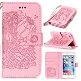 iPhone 6S Plus Case, New Style Pressed Embossing Flowers Windchime Pattern Retro Folio - Best Reviews Guide