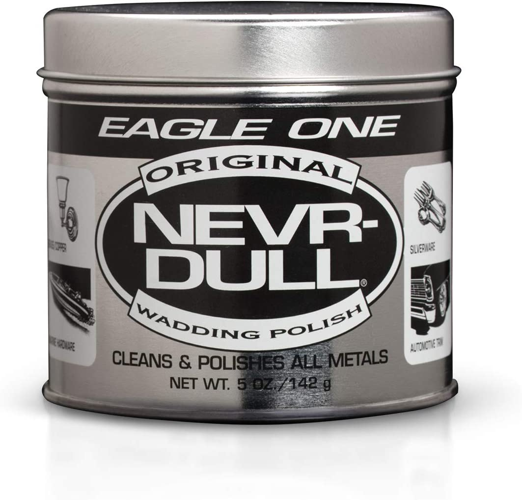 B000CNBI1A Eagle One Nevr-Dull Wadding Metal Polish, Chrome Restoration, for Wheels and More, 5 Ounce Jar 61RdTjIS92L