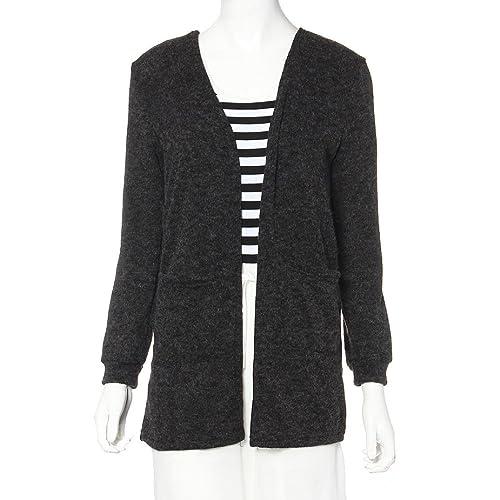 Capa para mujer, Oyedens Cardigan manga larga de punto flojo del suéter Outwear el suéter capa de la...