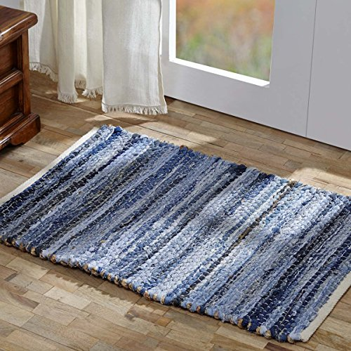 VHC Brands Home and Kitchen - Denim & Hemp Chindi/Rag Rug Rect 20x30