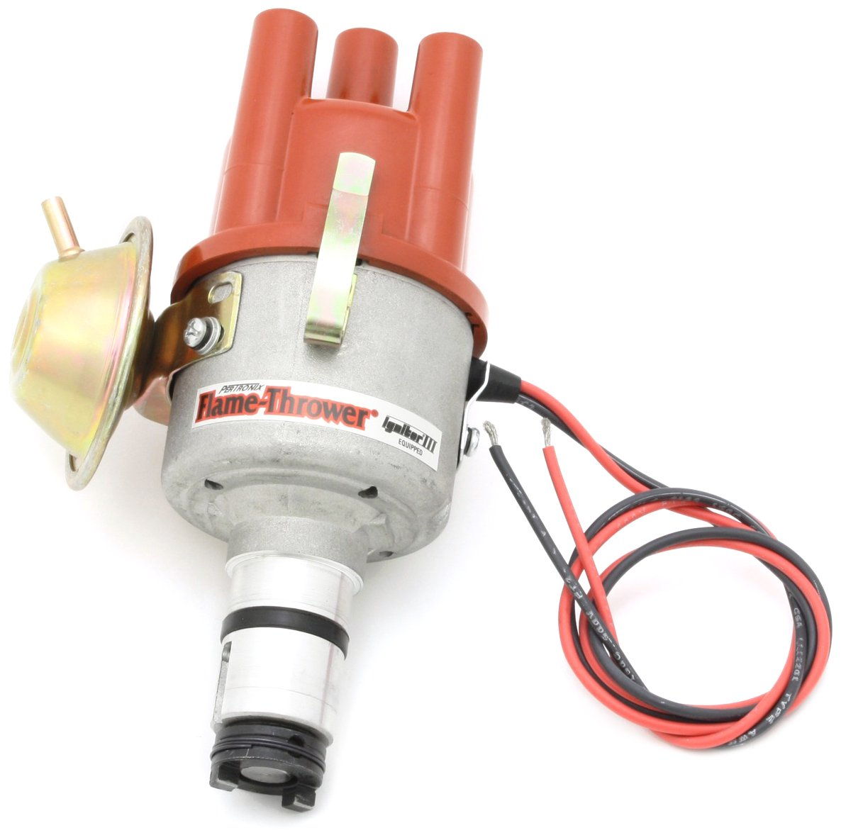 Pertronix D7182504 Flame-Thrower Plug and Play Vacuum Advance Electronic Distributor with Ignitor III for VW Type 1 Engine