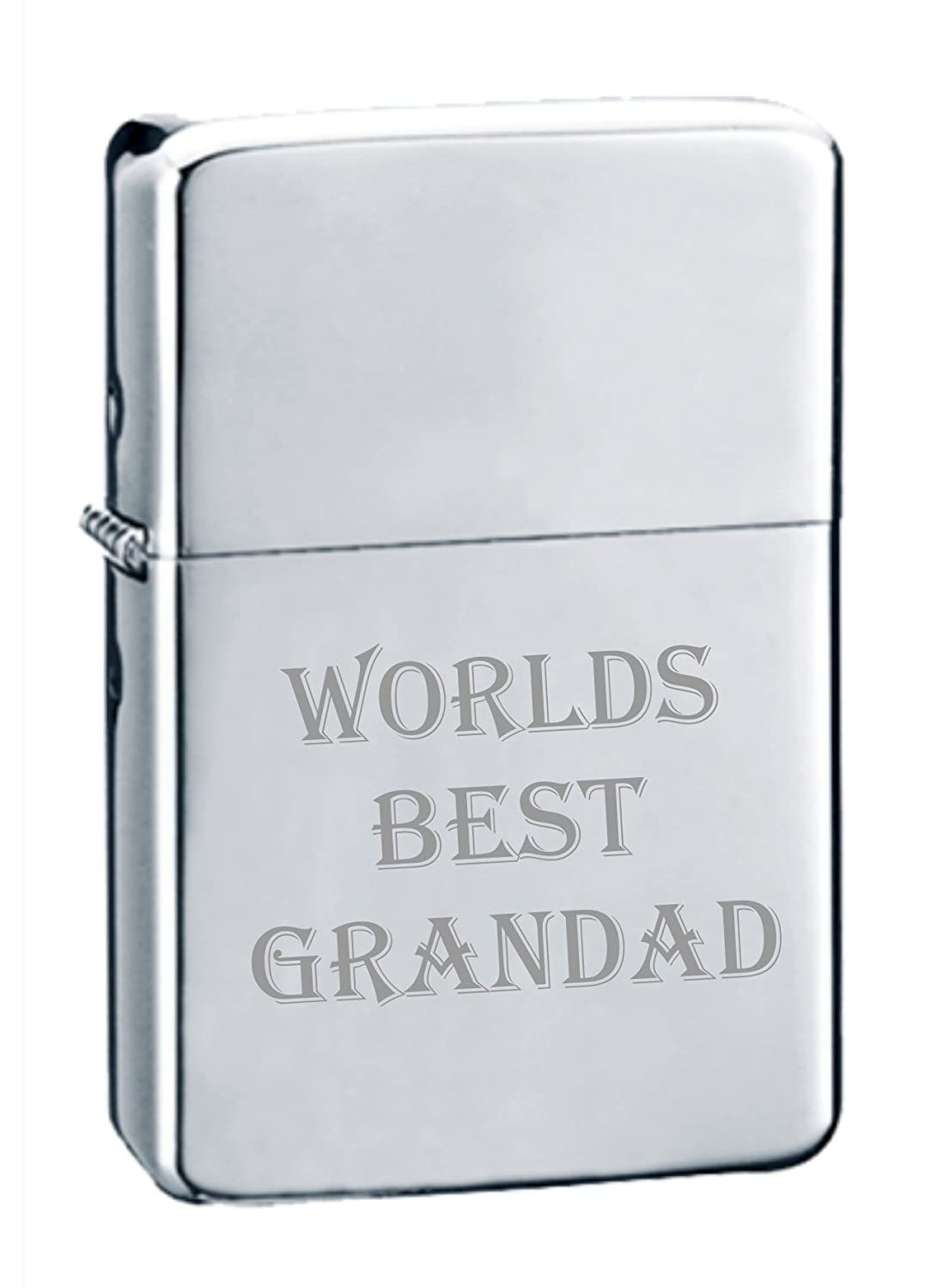 Grandad Engraved Polished Chrome Lighter No 80 can be personalised engraved free of charge MR FIX IT