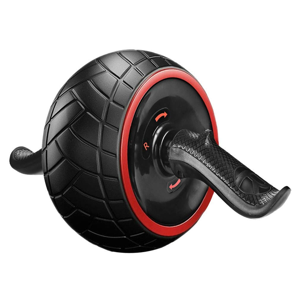Abdominal and Core Exercise Roller Wheel,Exercise and Fitness Wheel,Rubber Muscle Roller with Cushion,Wear-Resistant Anti-Slip,Self-Rebound, Smart Brake and Multi-Angle Side-Slip Exercise