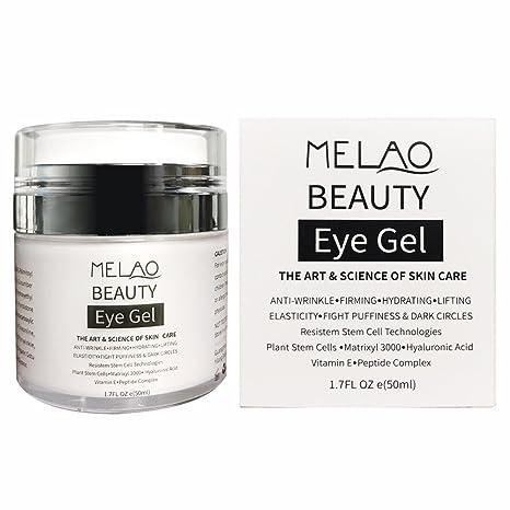 Melao - Gel para contorno de ojos Eye Gel, con ácido hialurónico y vitamina E