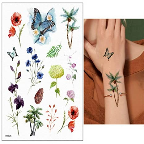 3pcs colibrí Tatuaje Impermeable Chica Tatuaje pájaro Manga Pavo ...