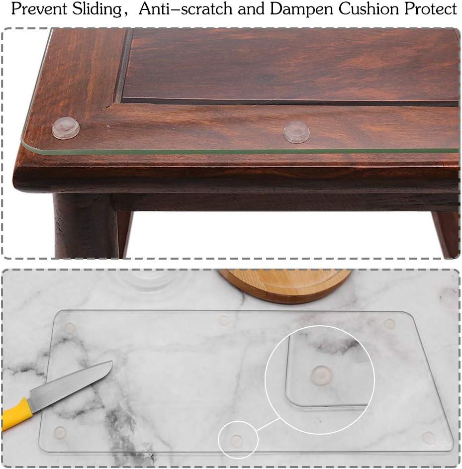 Pare-chocs en silicone tiroirs et protection de surface amortissement du bruit anti-rayures pour armoires portes adh/ésifs pour meubles 128 pi/èces, cylindriques