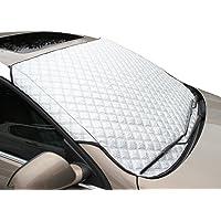 Tomkity Pare-brise de voiture couverture pare-soleil argenté pliable compatible avec la plupart des véhicule universel Vans Monospace (véhicule) SUV et camion