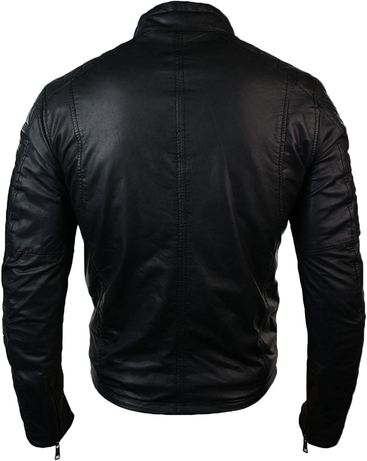 Men Leather Jacket New Soft Cow Leather Slim Biker Bomber Coat LFC1345