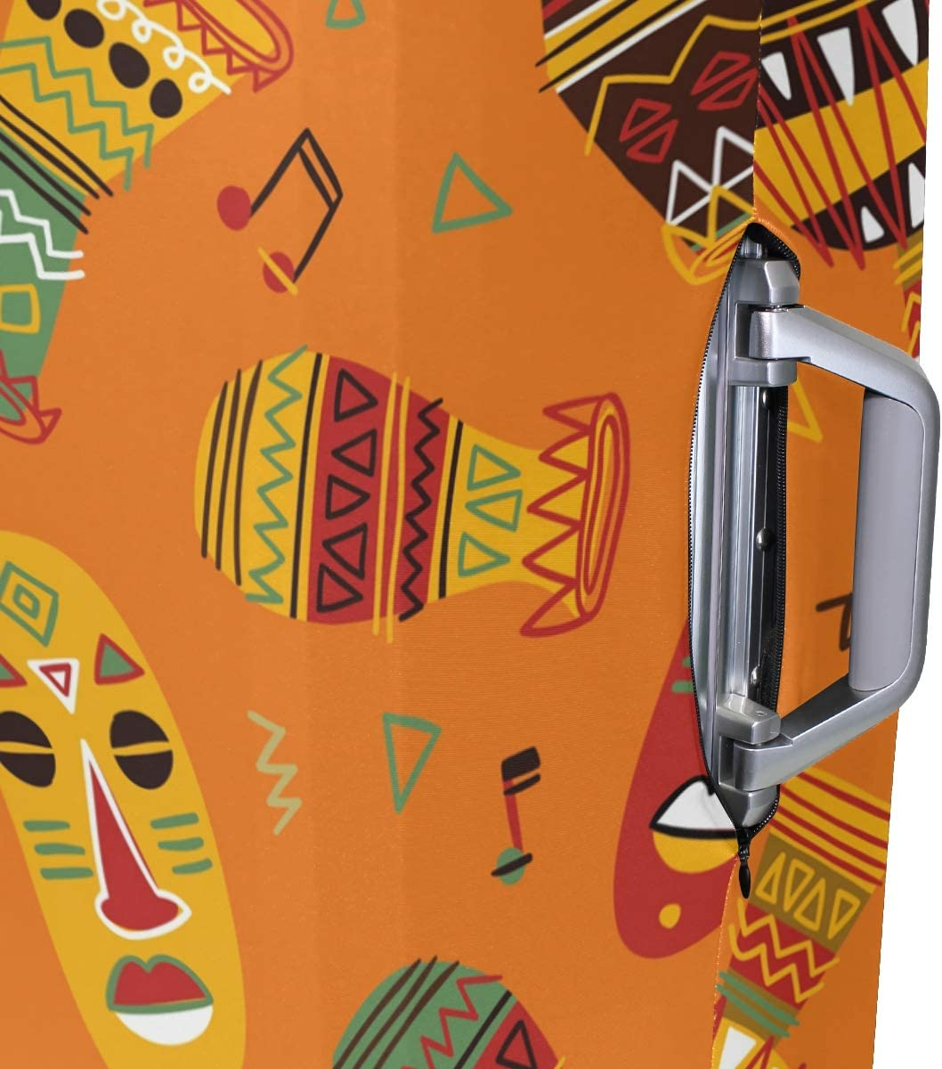 Blue Viper Colorful African Luggage Protective Cover Suitcase Protector Fits 22-24 Inch Luggage
