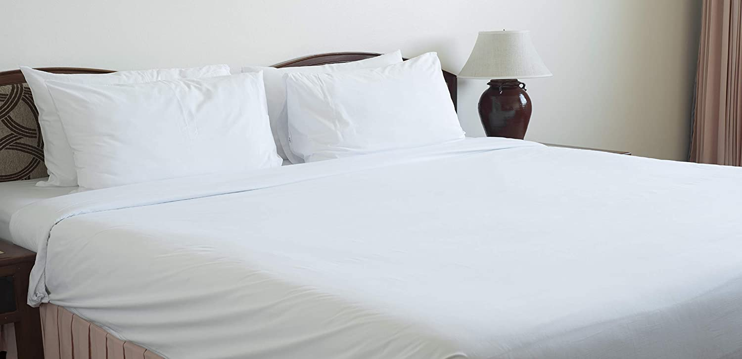 Bulk Packed Economy Rentals Hospitals Retirement Homes Bed /& Breakfast Atlas Twin Flat Sheets White T130 66x115 Inch - Hotel Clinics Churches 2-Sheets Home Condo Chiropractors