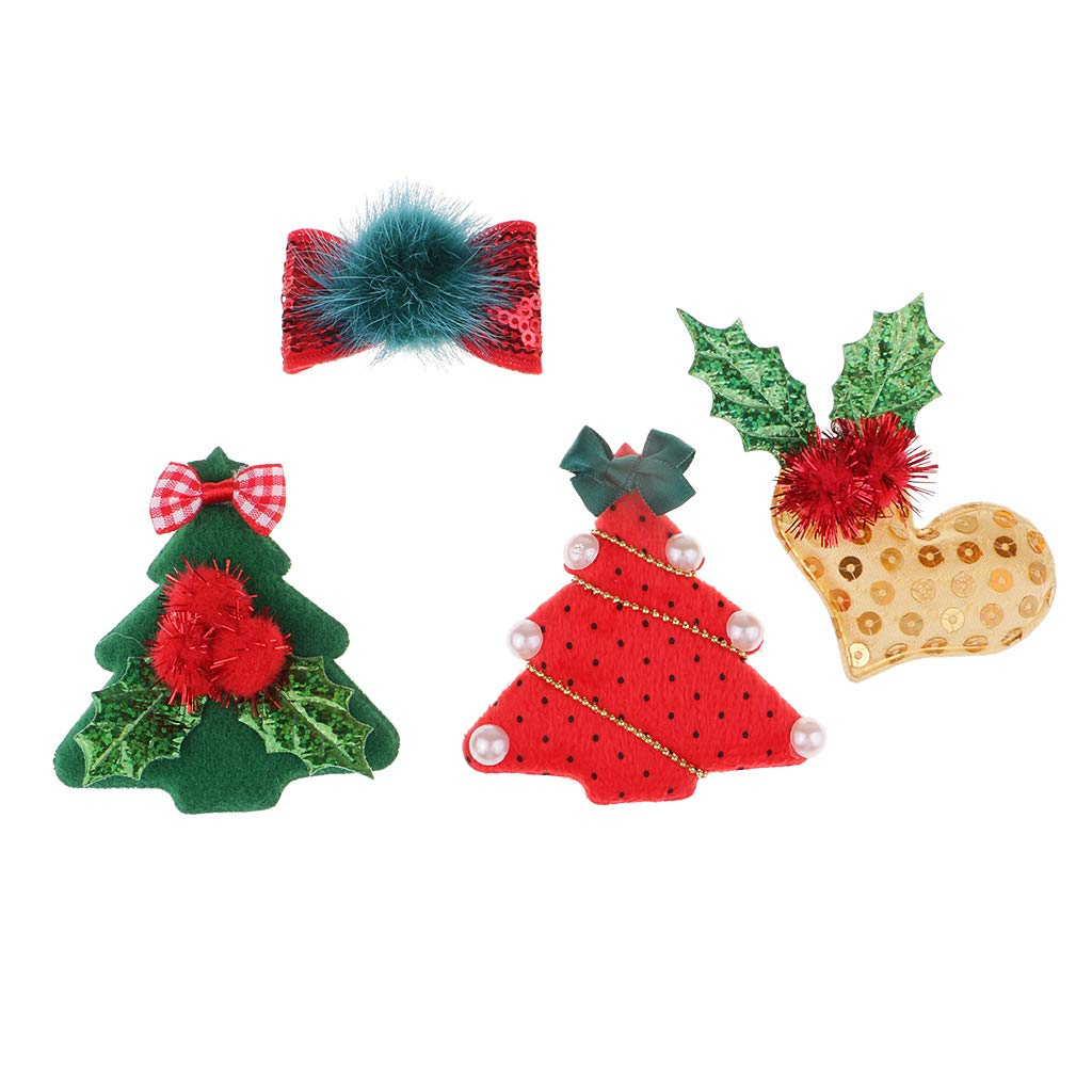 B Baosity Traditions Christmas Motif Applique Felt Fabric Patch for Sewing DIY Accessory Decoration For Children Clothing Bag Shoes Gifts Hair Bow Clips - Multi, 3pcs 45x45mm - 60x90mm