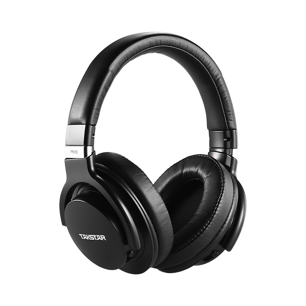 ammoon Studio Dynamic Monitor Headphone Headset Over-ear for Recording Monitoring Music Appreciation Game Playing with Aluminum Alloy Case TAKSTAR PRO 82 1