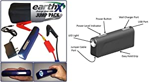 EarthX Jump Pack LiFePo4 Starter- Cars Boats Motorcycles ATV UTV