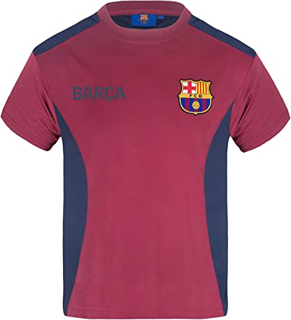 Claret FC Barcelona Official Kid/'s Club Poly T-Shirt New 10-11 Years