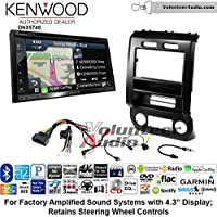Volunteer Audio Kenwood DNX574S Double Din Radio Install Kit with GPS Navigation Apple CarPlay Android Auto Fits 2015-2016 Ford F-150, 2017 Ford F-250