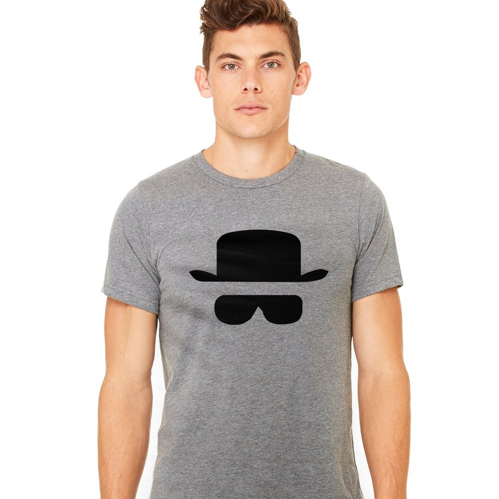 InkThread Men's Funny T Shirt Heisenberg Hat and Glasses Graphic Tee
