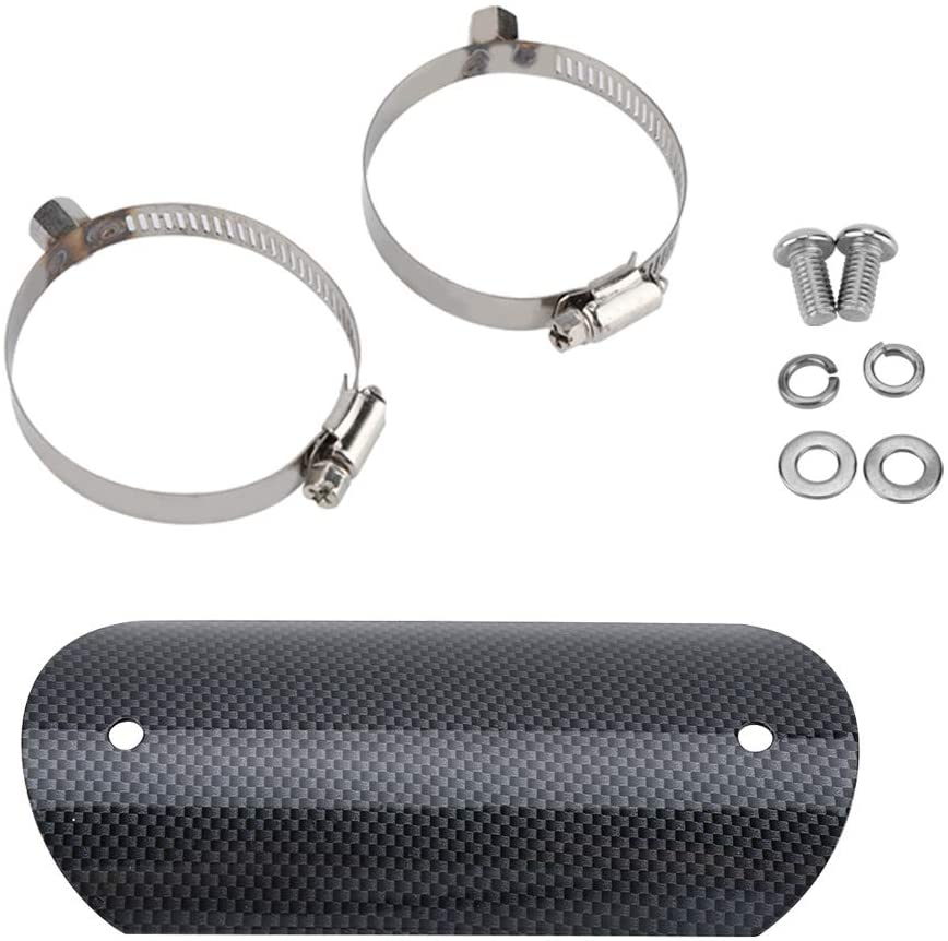 Motorcycle Exhaust Protector Set Universal Carbon Fiber Exhaust Middle Pipe Heat Shield Protector Cover Guard