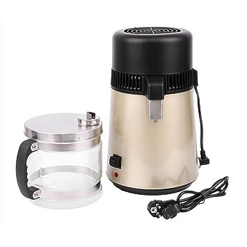 XuanYue 4L destilador de agua eléctrico encimera destilación de agua de acero inoxidable con conexión botella de cristal para ...