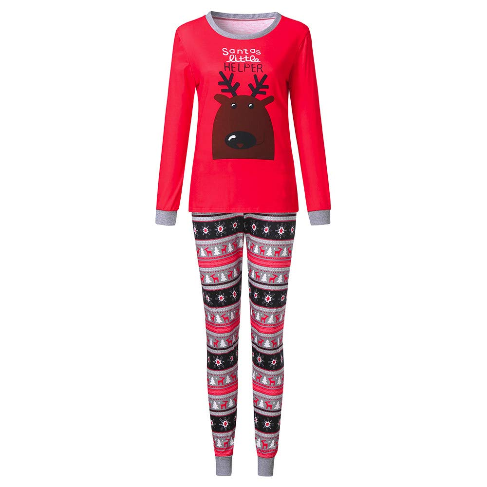 christmas pyjamas family plus size men women kids baby boys girls deer blouse pants xmas pjs