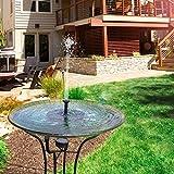 Solar Fountain Pump, Feelle Solar Powered Floating Fountain Kit Solar Water Fountain for Bird Bath Pond, Pool and Garden Decoration
