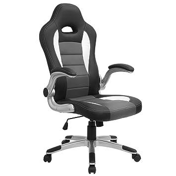 Amazing Barton Executive Computer Desk Chair, Racing Car Gaming Chair (black/grey)