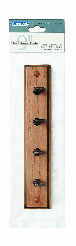 219mm Amerock HR55590WGW Key /& Gadget Hook Rack 8-5//8in White//White