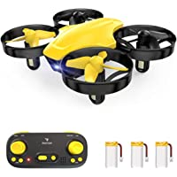 SNAPTAIN SP350 Mini Drone for Kids/Beginners, Portable Throw'n Go RC Quadcopter with 3 Batteries, Circle Flying, 3D Flip…