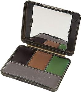 Allen Company - Camo Face Paint Set, Face Paint Stick and Liquid Face Paint (Black, Brown, Olive / Grey)