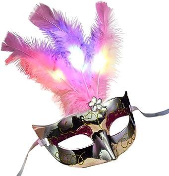 Máscara veneciana para mujer Goodquan, máscara para disfraz ...