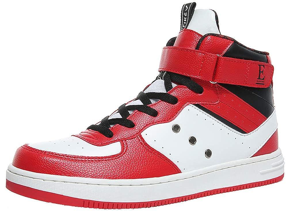 VITIKE Baskets Mode Mixte Adulte Boy Sneaker Baskets Bottines Leather Baskets Montantes